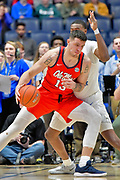 Mississippi Rebels center Dominik Olejniczak (13) dribbles the ball against the Middle Tennessee Blue Raiders during an NCAA college basketball game in Nashville, Tenn., Friday, Dec. 21, 2018. (Jim Brown/Image of Sport)