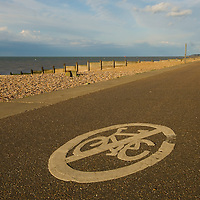 No cycling road sign, Tinkerton slopes, Whitstable, Kent