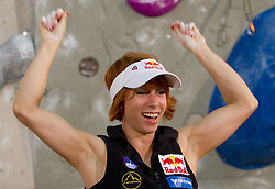 Overall combination third placed  Natalija Gros of Austria at Trophy ceremony during Final IFSC World Cup Competition in sport climbing Kranj 2010, on November 14, 2010 in Arena Zlato polje, Kranj, Slovenia. (Photo By Vid Ponikvar / Sportida.com)