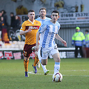 Dundee's Alex Harris races away from Motherwell's Craig Moore - Motherwell v Dundee, SPFL Premiership at Fir Park<br /> <br />  - &copy; David Young - www.davidyoungphoto.co.uk - email: davidyoungphoto@gmail.com