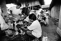 BALI, INDONESIA --- 1997:  Activities leading up to and including a ceremony to mark the transition from baby to child of a Balinese girl.<br /> --- Photo by Tom Wagner/Corbis SABA