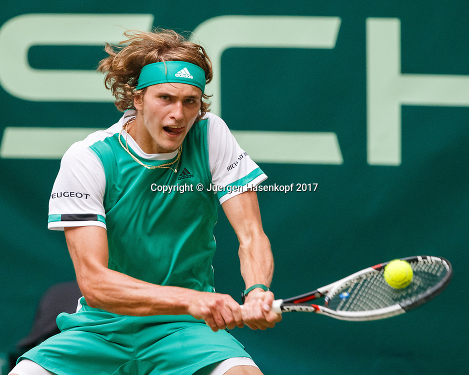ALEXANDER ZVEREV (GER)<br /> <br /> Tennis - Gerry Weber Open - ATP 500 -  Gerry Weber Stadion - Halle / Westf. - Nordrhein Westfalen - Germany  - 23 June 2017. <br /> &copy; Juergen Hasenkopf
