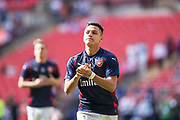 Arsenal forward Alexis Sanchez (7) during the warm up at The FA Cup Final match between Arsenal and Chelsea at Wembley Stadium, London, England on 27 May 2017. Photo by Sebastian Frej.