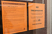 Foreclosure notice on a home in Las Vegas, NV.