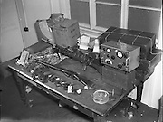 Arms and radio transmitter seized by Gardai. 16/04/1958