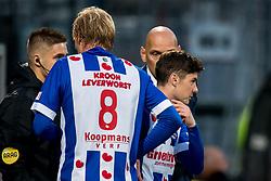 (L-R) Morten Thorsby of sc Heerenveen, Marco Rojas of sc Heerenveen during the Dutch Eredivisie match between sbv Excelsior Rotterdam and sc Heerenveen at Van Donge & De Roo stadium on September 16, 2017 in Rotterdam, The Netherlands