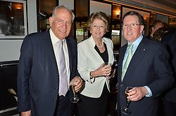 Left to right, FIELD MARSHALL LORD GUTHERIE,  ( He is the Former Chief of Defence Staff) LADY GUTHRIE and LORD ROBERTSON former NATO Secretary General at the Style for Soldiers dinner held at Le Caprice, 20 Arlington Street, London on 24th May 2016.
