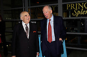 Lord Weidenfeld and Lord Rothschild. The opening of ' Princely Spendour: The Dresden Court 1580-1620' The Gilbert Collection, Somerset House. London. 8 June 2005. ONE TIME USE ONLY - DO NOT ARCHIVE  © Copyright Photograph by Dafydd Jones 66 Stockwell Park Rd. London SW9 0DA Tel 020 7733 0108 www.dafjones.com