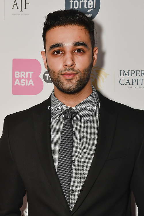 Avkash Mann is a singer attend the BritAsiaTV Presents Kuflink Punjabi Film Awards 2019 at Grosvenor House, Park Lane, London,United Kingdom. 30 March 2019