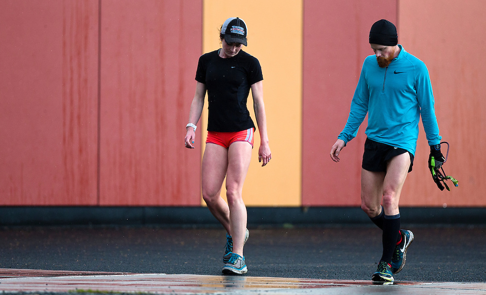 Mariah Kelly and Geoffrey Harris train and go through biomechanical and performance analytics at the PISE Pacific Institute for Sport Excellence on December 4th, 2015 in Victoria, British Columbia Canada.
