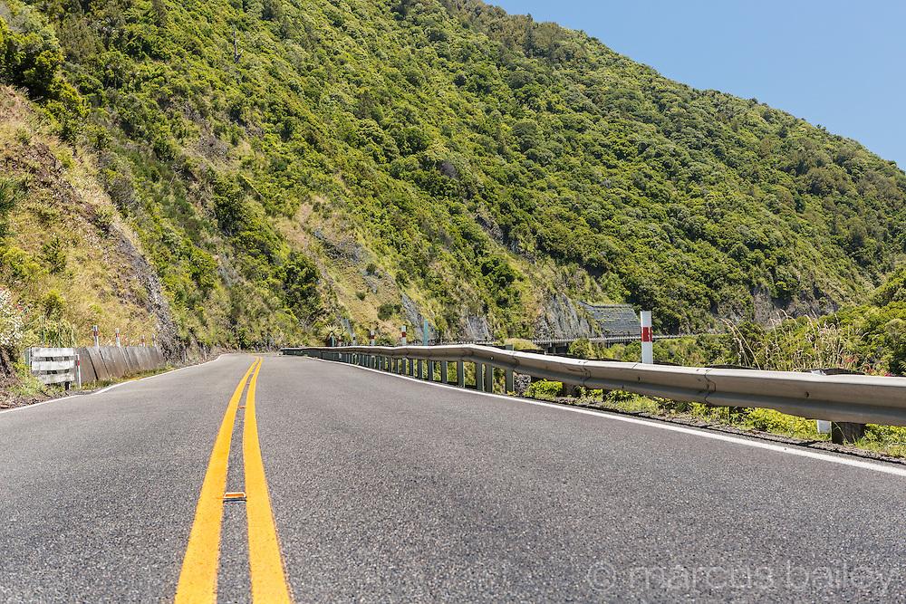 SH3 running through Mnawatu Gorge, North Island, New Zealand