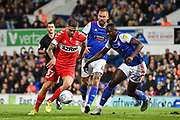 Middlesbrough Midfielder Mo Besic (37) scores a goal (1-0) during the EFL Sky Bet Championship match between Ipswich Town and Middlesbrough at Portman Road, Ipswich, England on 2 October 2018.