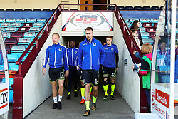 Chris Lines of Bristol Rovers leads out the players for the warm up - Mandatory by-line: Matt McNulty/JMP - 11/11/2017 - FOOTBALL - Glanford Park - Scunthorpe, England - Scunthorpe United v Bristol Rovers - Sky Bet League One