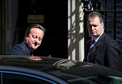 ©  London News Pictures. 06/07/2016. London, UK. British Prime minister DAVID CAMERON leaving 10 Downing Street in London on the day that the long-awaited Chilcot inquiry into the war in Iraq is due to be released. Photo credit: Ben Cawthra/LNP