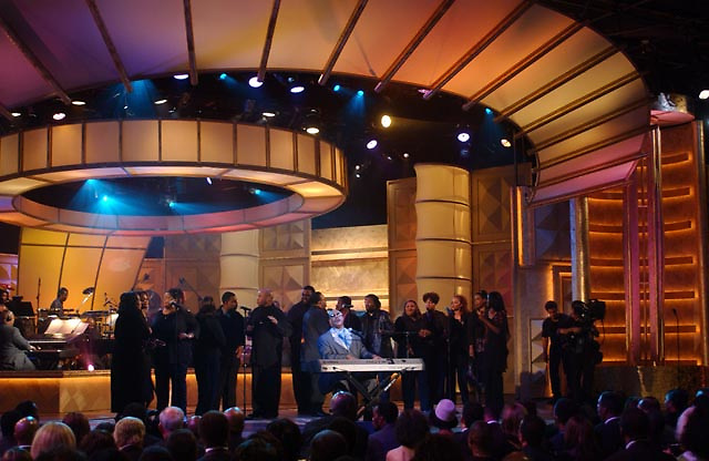 Stevie Wonder performs during finale of the BET Walk of Fame show in his honor.