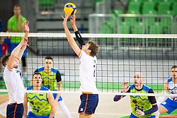 30-12-2019 SLO: Slovenia - Netherlands, Ljubljana<br /> Jan Kozamernik and Ziga Stern of Slovenia  during friendly volleyball match between National Men teams of Slovenia and Netherlands