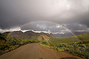 Rainbow over Alaska Range from Sable Pass, Denali National Park, Alaska. Digital original ©Robin Brandt #06_2798