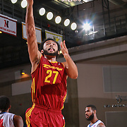 Canton Charge Center JON HORFORD (27) drives towards the basket in the first half of a NBA D-league regular season basketball game between the Delaware 87ers and the Canton Charge Tuesday, JAN, 26, 2016 at The Bob Carpenter Sports Convocation Center in Newark, DEL.