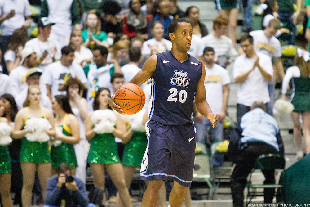 Dec 3, 2014; Fairfax, VA, USA; The Old Dominion Monarchs against George Mason Patriots at the Patriot Center in Fairfax, VA. Mandatory Credit: Brian Schneider-www.ebrianschneider.com