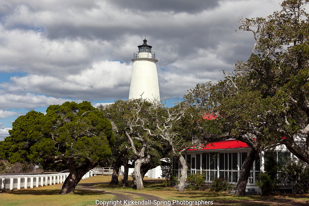 NC00822-00...NORTH CAROLINA - The Ocracoke Lighthouse on Ocracoke Island in the Outer Banks.