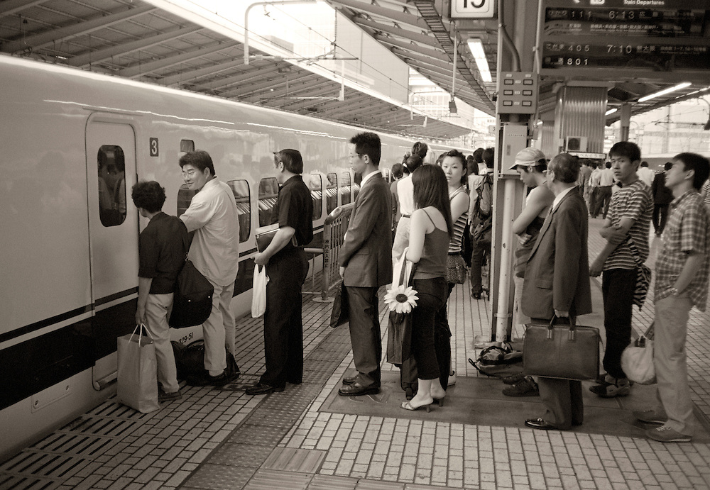 Gare de Tokyo, train rapide pour Kyoto.
