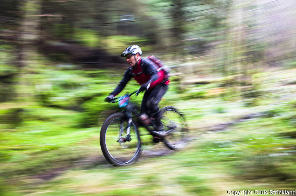 Dunkeld, Perthshire, Scotland, UK. 12th March 2016. Mountain Bikers compete in the 1st Round of the Scottish Enduro Series 2016 at Dunkeld near Perth.