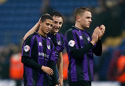 Bristol Rovers' Alefe Santos is congratulated - Photo mandatory by-line: Matt Bunn/JMP - Tel: Mobile: 07966 386802 12/10/2013 - SPORT - FOOTBALL - Field Mill - Mansfield - Mansfield Town V Bristol Rovers - Sky Bet League 2