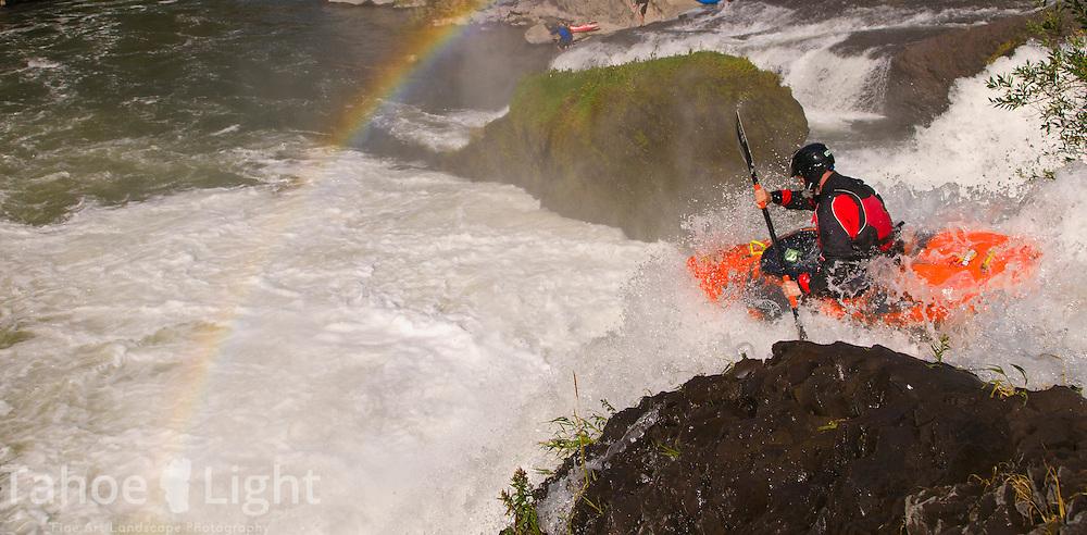 Kayaking the pit river falls