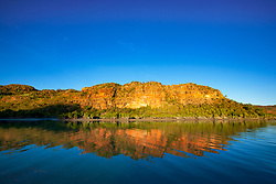 Late afternoon light on the shoreline of the Hunter River,on the Kimberley coast in Western Australia.