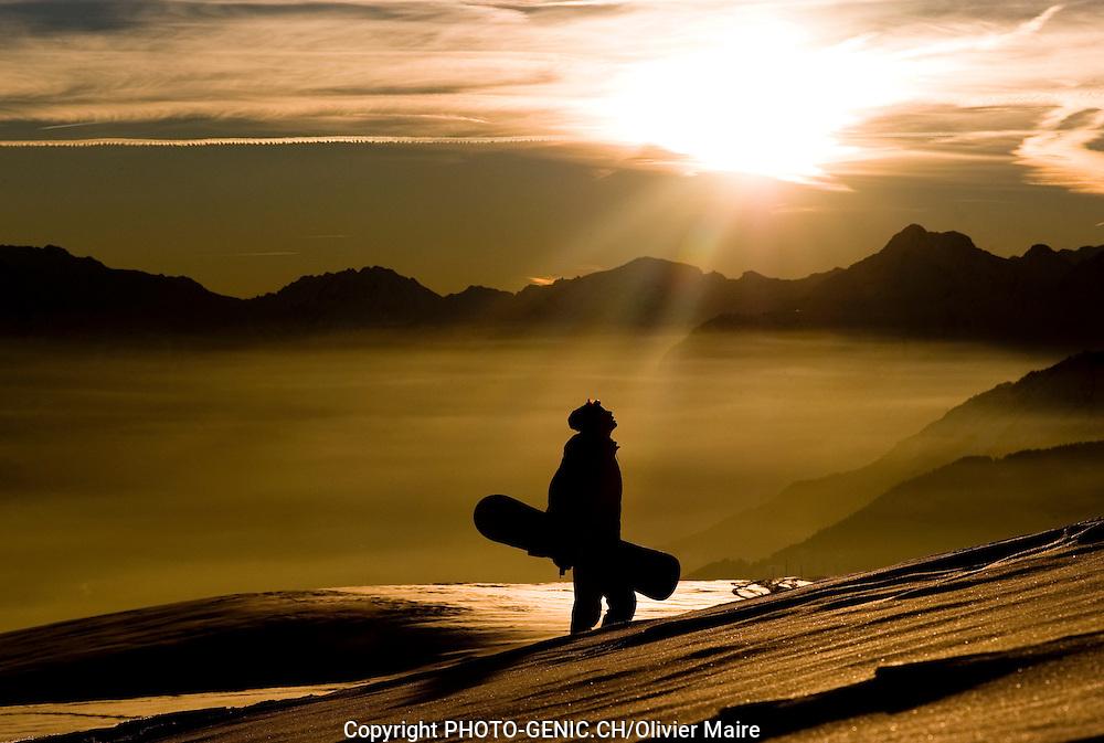 Crans-Montana Tourisme Hiver neige.(PHOTO-GENIC.CH/Olivier Maire)