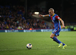 Crystal Palace's Dean Moxey drives forward - Photo mandatory by-line: Robin White/JMP - Tel: Mobile: 07966 386802 21/10/2013 - SPORT - FOOTBALL - Selhurst Park - London - Crystal Palace V Fulham - Barclays Premier League