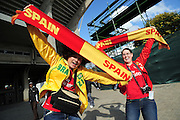Spain Supporters before the soccer match of the 2009 Confederations Cup between Spain and Iraq played at Vodacom Park,Bloemfontein,South Africa on 17 June 2009.  Photo: Gerhard Steenkamp/Superimage Media.