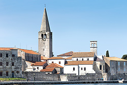 THEMENBILD - Porec ist eine Stadt an der Westkueste von der kroatischen Halbinsel Istrien, im Bild die Euphrasius-Basilika . Aufgenommen am 12. April 2017 // Porec is a town on the western coast of the Croatian peninsula Istria, This picture shows the Euphrasian Basilica, Porec, Croatia on 2017/04/12. EXPA Pictures © 2017, PhotoCredit: EXPA/ Sebastian Pucher