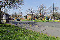 © Licensed to London News Pictures. 03/04/2017. Croydon, UK. Shrublands Avenue in Croydon, the scene of a racial attack on a teenage asylum seeker by a gang of youths. Ten people have arrested, five charged and three remain in custody in relation with the incident which took place late on Friday evening.  Photo credit: Presspics/LNP