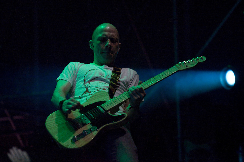"Mogwai performing live at the San Miguel Primavera Sound music festival in Barcelona, on May 28th, 2011...Stuart Braithwaite (guitar, vocals), John Cummings (guitar, vocals), Barry Burns (guitar, piano, synthesizer, vocals), Dominic Aitchison (bass guitar), and Martin Bulloch (drum kit). In 2011 Mogwai enter a new period, one which starts with them leaving Matador and signing with Sub Pop, and presenting the complex sounds of what will be their seventh studio album. ""Hardcore Will Never Die, But You Will"". They are directly responsible for rock starting to move on the independent circuit under the post prefix they are alchemists of a sound which converted guitars and crescendos into weapons of mass destruction, these Scots can be proud of having produced tracks that are essential to the recent history of music, like ""Young Team"" and ""Rock Action""."