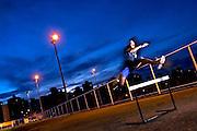Belo Horizonte, 27/02/2007...Esportes. Wander do Prado Moura...Wander do Prado Moura, corredor de 38 anos, treina na pista de corrida da faculdade de educacao fisica do UNI BH, onde cursa o 4o periodo. Ele e recordista sul-americano e pan-americano dos 3000m com obstaculos, e ganhou duas medalhas no PAN de 95. Ele voltou a treinar apos 4 anos parados, e vai tentar uma vaga no PAN de 2007...FOTO: LEO DRUMOND / AGENCIA NITRO