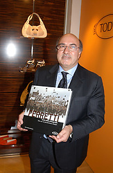 """DANTE FERRETTI at a book signing hosted by Tod's for Dante Ferretti's new book 'The Art of Production Design"""" held at the Tod's store, 2/3 Old Bond Street, London on 19th April 2005.<br /><br />NON EXCLUSIVE - WORLD RIGHTS"""