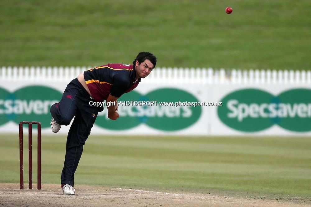 Keith Vincent, Twenty 20 cricket, Northern Districts Maori v Cook Islands, Seddon Park, Hamilton. 4 April 2011. Photo: William Booth/photosport.co.nz