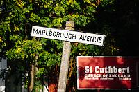 Marlborough Avenue, Kingston Upon Hull, East Yorkshire, United Kingdom, 13 October, 2009. Pictured: Marlborough Avenue on a sunny autumn morning.