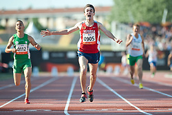 KOBESOV Chermen, HAMDI Sofiane, RUS, ALG, 400m, T37, 2013 IPC Athletics World Championships, Lyon, France