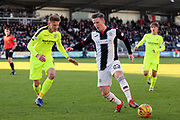 St Mirren midfielder Kyle McAllister (23) on the attack during the Ladbrokes Scottish Premiership match between St Mirren and Hibernian at the Paisley 2021 Stadium, St Mirren, Scotland on 27 January 2019.