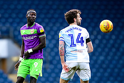 Famara Diedhiou of Bristol City challenges Charlie Mulgrew of Blackburn Rovers - Mandatory by-line: Robbie Stephenson/JMP - 09/02/2019 - FOOTBALL - Ewood Park - Blackburn, England - Blackburn Rovers v Bristol City - Sky Bet Championship