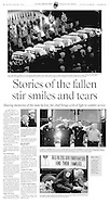 Coverage of the memorial service held for nine firefighters who were killed fighting a furniture store blaze in Charleston, SC in 2007.