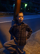 An American boy in the town of Setcases in the Spanish Pyrenees.