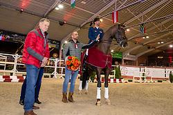 Genesis Begijnhoeve, Van Puijenbroek Rob, Visser Tommy,<br /> BWP Hengstenkeuring - Lier 2020<br /> © Hippo Foto - Dirk Caremans<br /> 17/01/2020