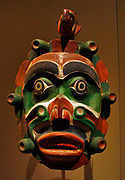 Yagim Mask, 1920-25 Vancouver Island, British Columbia.  Wood, paint.  George Walkus (Kwakwaka'wakw, ca 1875-1958). A furtive, aggressive sea creature known as Yagim was part of the dramatic Tseyka performance cycle, which took place during the dark winter when life on the North West coast moves largely indoors.
