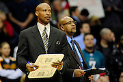 Feb. 5, 2011; Cleveland, OH, USA; Cleveland Cavaliers head coach Byron Scott during the final seconds of the fourth quarter against the Portland Trail Blazers at Quicken Loans Arena. The Trail Blazers beat the Cavaliers 111-105. Mandatory Credit: Jason Miller-US PRESSWIRE