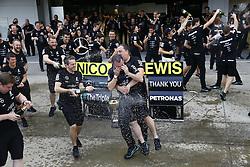 October 9, 2016 - Suzuka, Japan - Motorsports: FIA Formula One World Championship 2016, Grand Prix of Japan, .Mercedes AMG Petronas Formula One Team celebrates the win of constructors championship 2016  (Credit Image: © Hoch Zwei via ZUMA Wire)