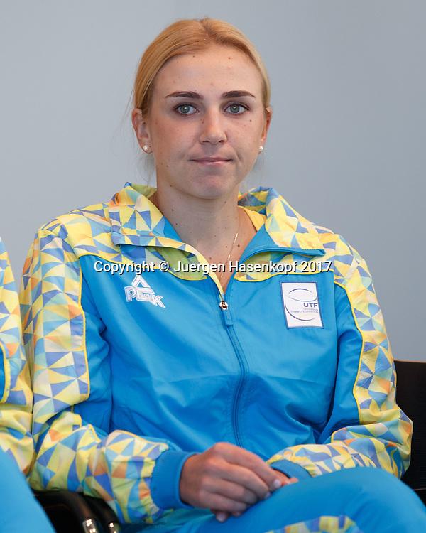 Fed Cup GER-UKR, Deutschland - Ukraine, Auslosung im Rathaus Stuttgart, <br /> NADIIA KICHENOK (UKR),Pressekonferenz
