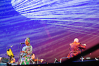Angelique Kidjo performing with the Adelaide Symphony Orchestra in an exclusive performance at Womadelaide 2016 Music Festival held between 11 - 14 March 2016 in Adelaide, South Australia